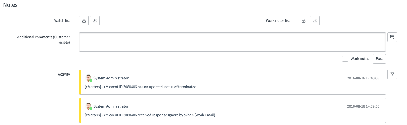 ServiceNow integration (version 5 3) – xMatters Support